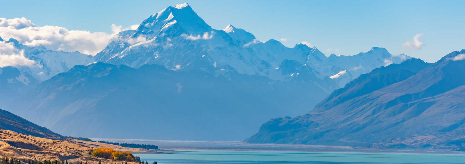 Glacier at Mont Cook National Park, New Zealand