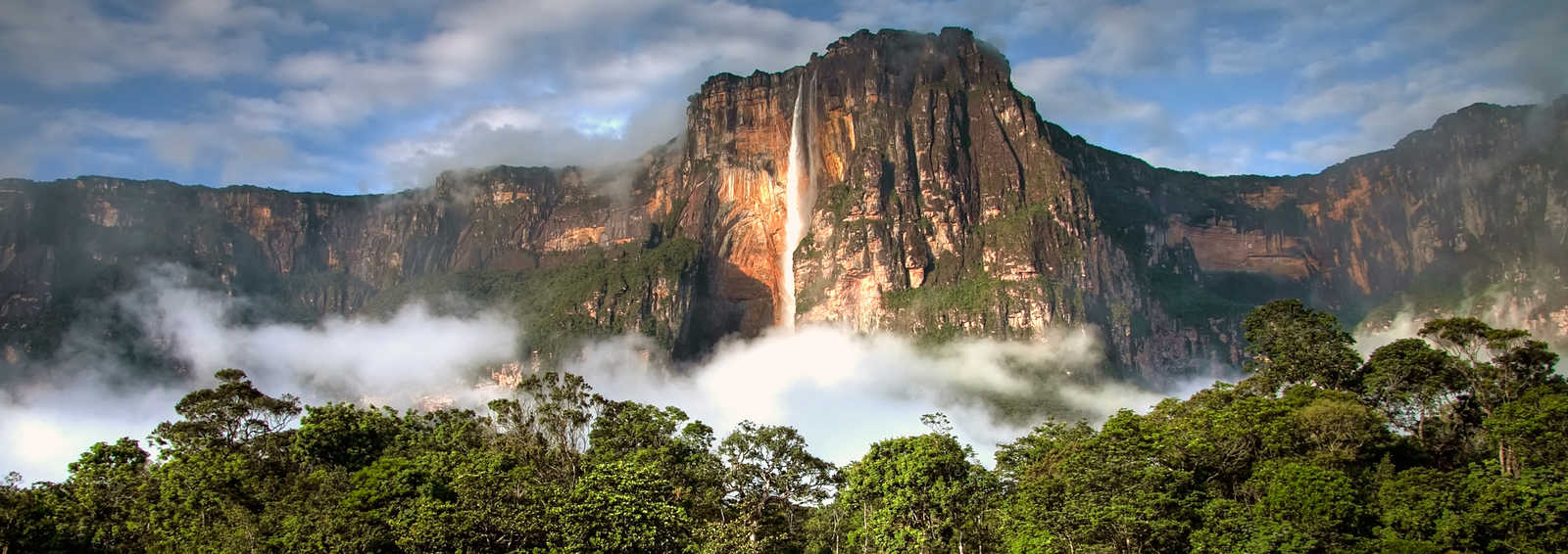 Angel Falls; the highest waterfall in the world shot in the early morning, Venezuela