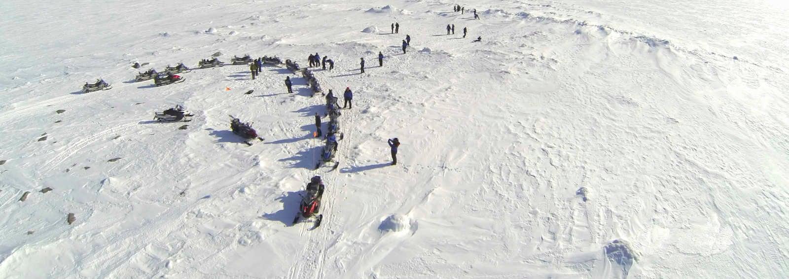 Snowmobiling on the Lulea Archipelago