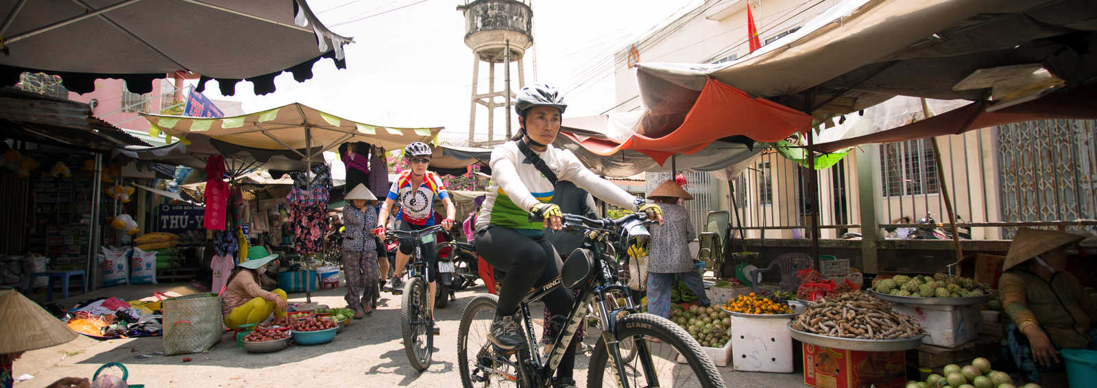 Cycling through the markets, Vietnam