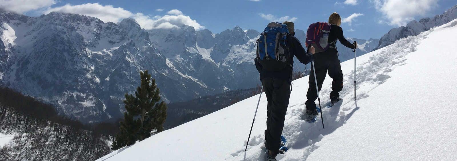 Snowshoeing, Albania