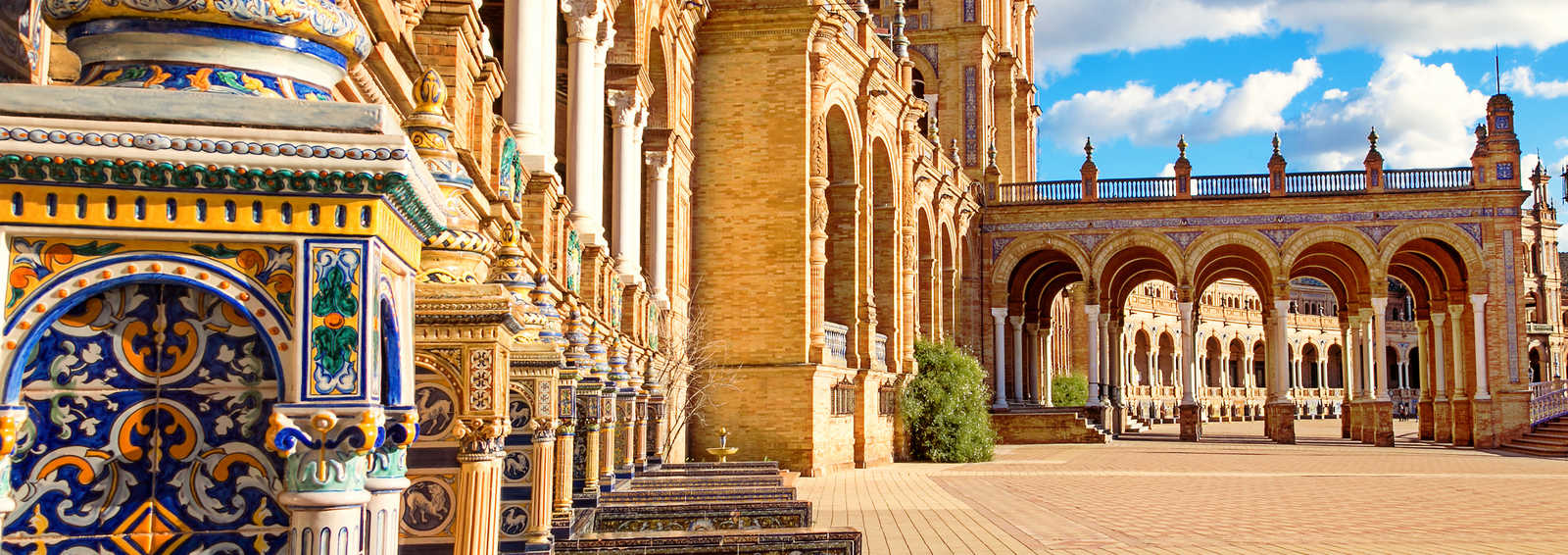 Plaza Espa close to the centre of Seville, Southern Spain