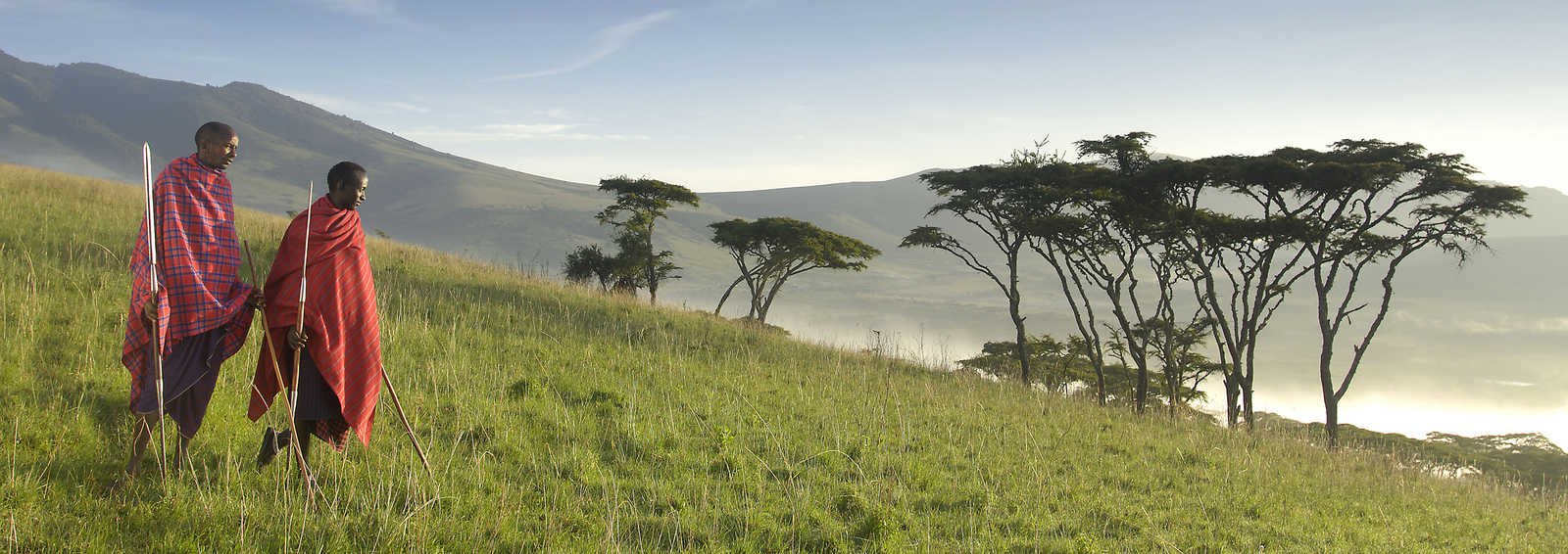 Ngorongoro Kirurumu sem-permanent tented camp views over the crater