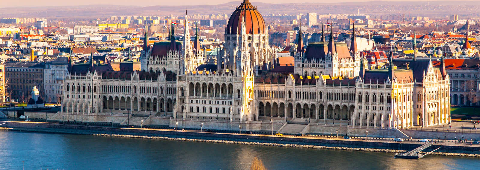 The Hungarian Parliament on the banks of the Danube
