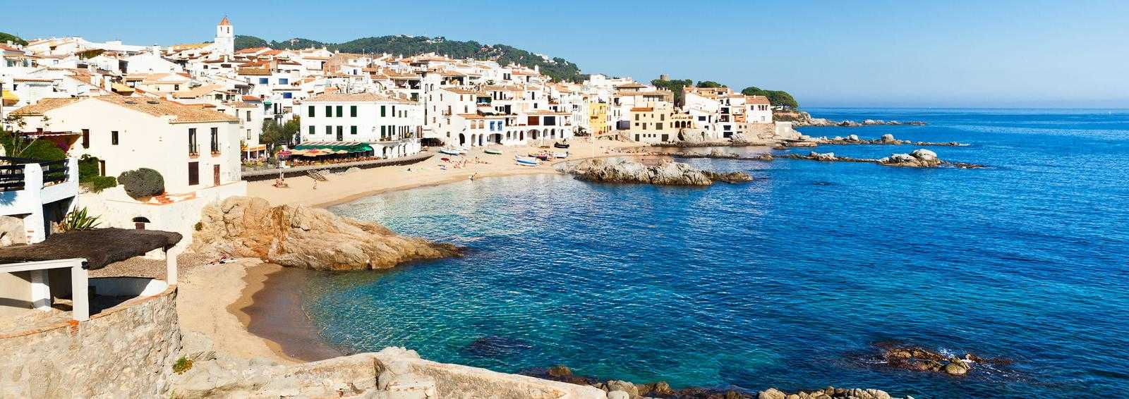 Coastline of Calella, Catalunya, Spain
