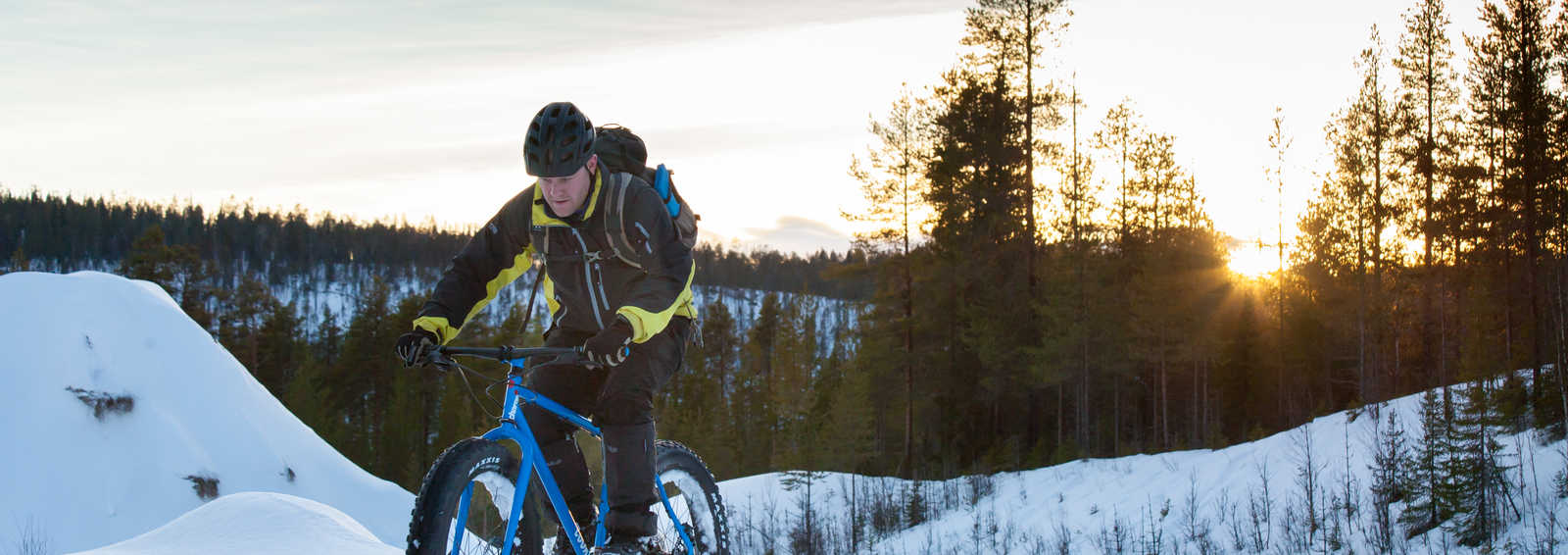 Cycling in Oulanka National Park - Finland