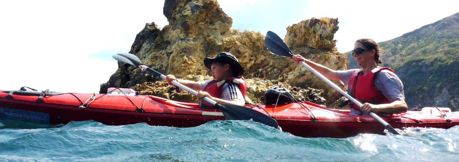 Kayaking Sicily