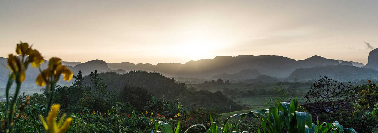 Beautiful sunset, Vinales, Cuba