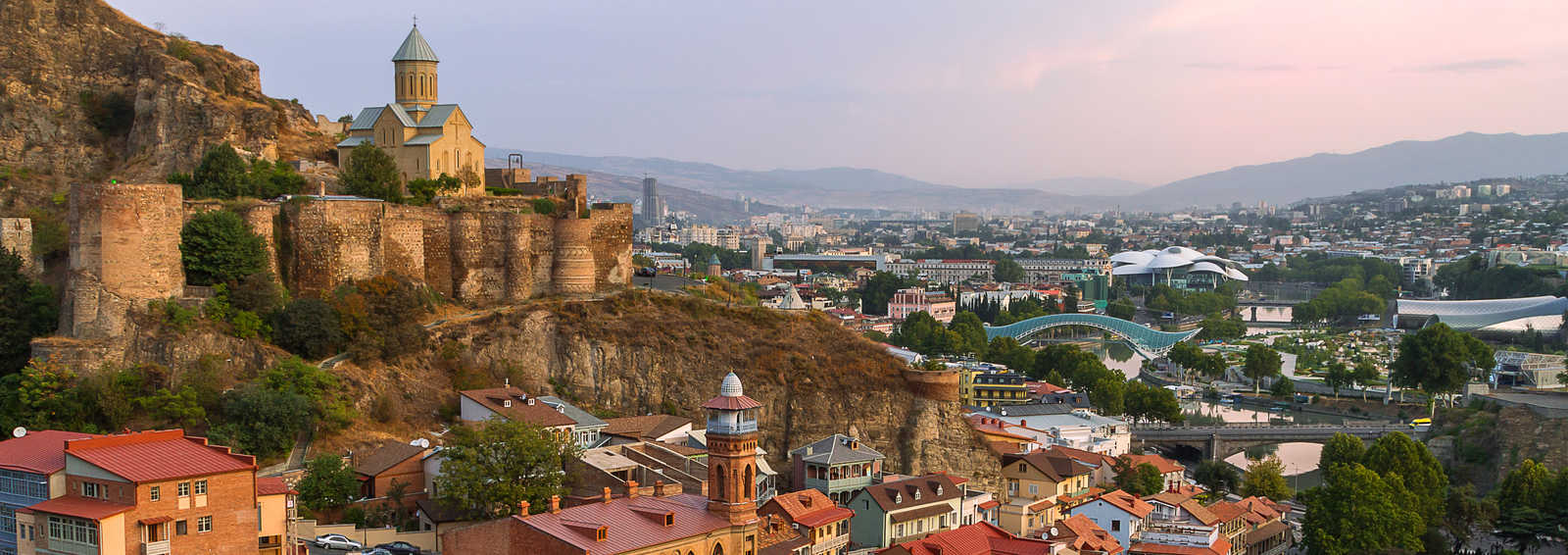 Narikala Castle and view over Tbilisi, Georgia