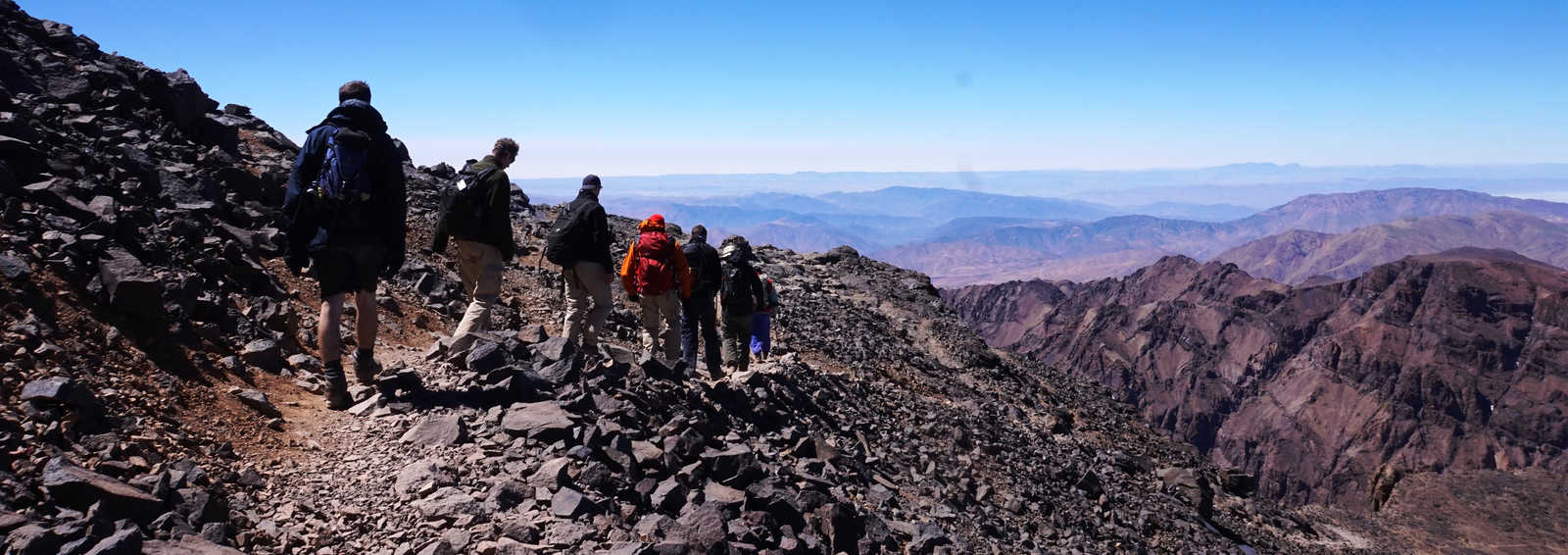 Decending from Moutn Toubkal (4167m)