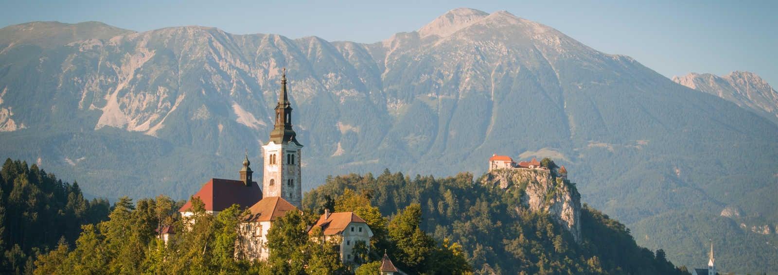 Lake Bled at dawn, Slovenia
