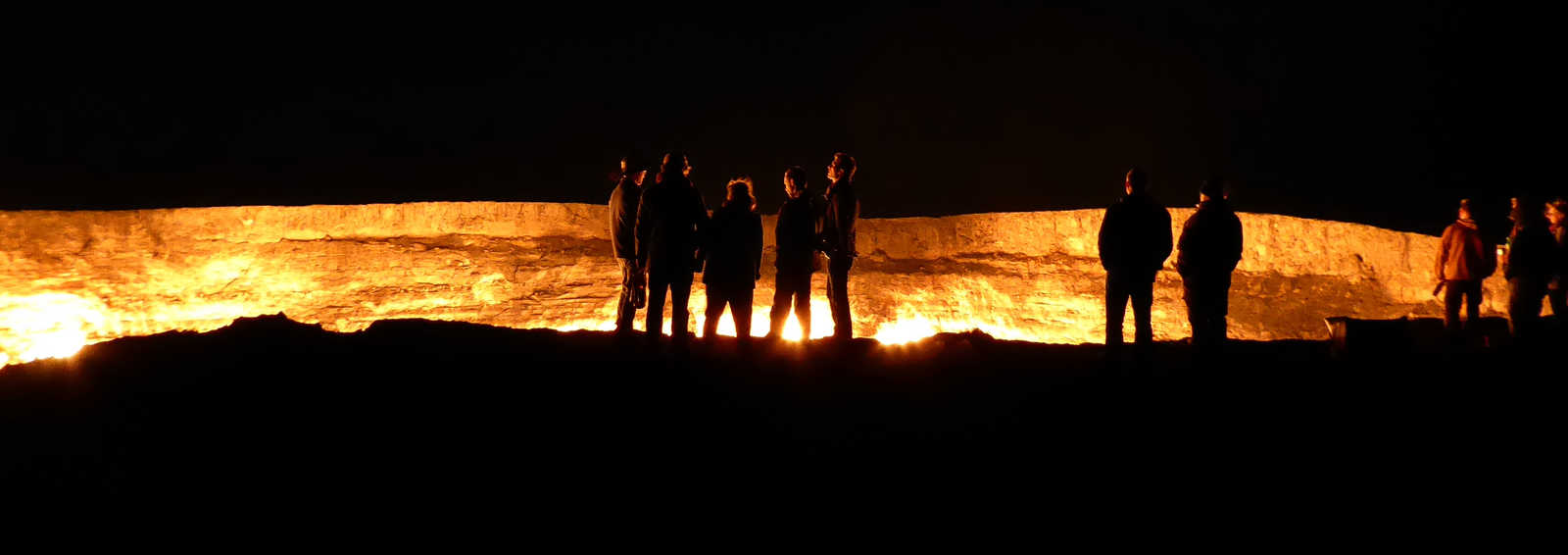 Darvaza burning gas crater - the Door to Hell