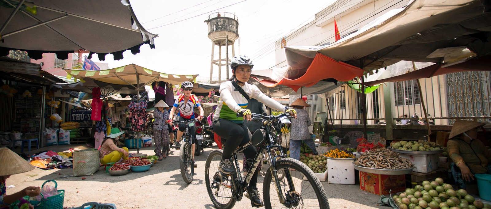 Cycling through the markets, Vietnam