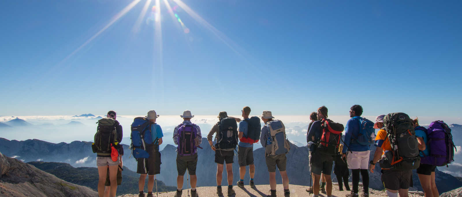 Group in the Julian Alps, Romania