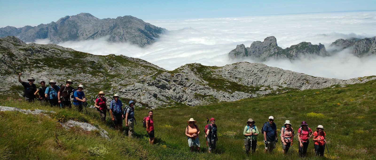Group photo, La Mesa clouds, Spain
