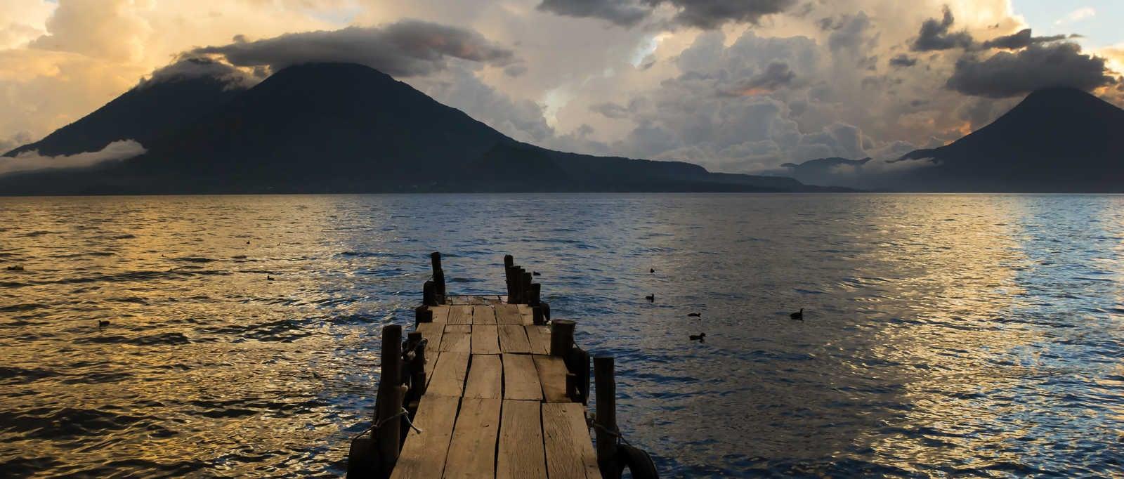 Sunset on Lake Atitlan, Guatemala
