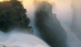 Victoria Falls, Devils Cataract, Zimbabwe