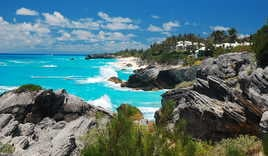 Coastal view in Bermuda
