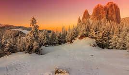 Carpathians sunset, Transylvania, Romania