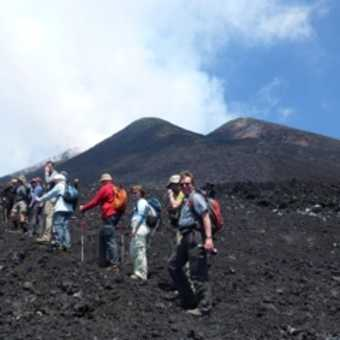 Star jump on Etna