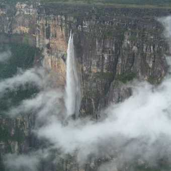 Flying over Angel Falls, Venezuela