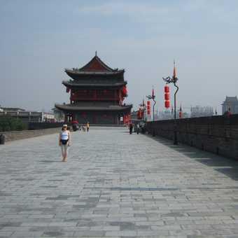 Cycling the City Walls at Xian