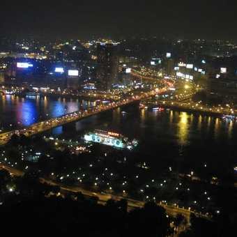 View of Cairo from Cairo Tower at night