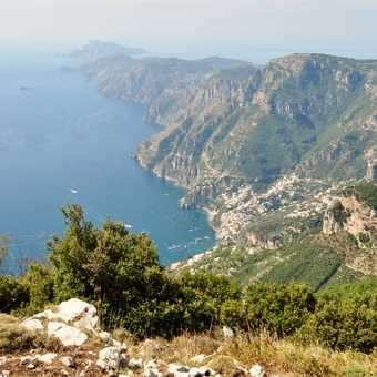Looking down the coast towards Capri