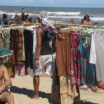 Sellers, Punta del Este beach