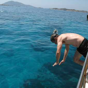 Swimming off the boat