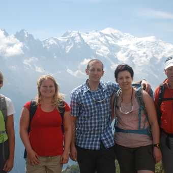 Group with Mont Blanc