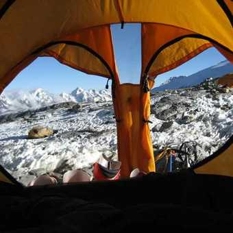 View from Camp at Mera La
