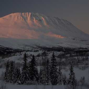 Gaustatoppen from the Fjellstoge