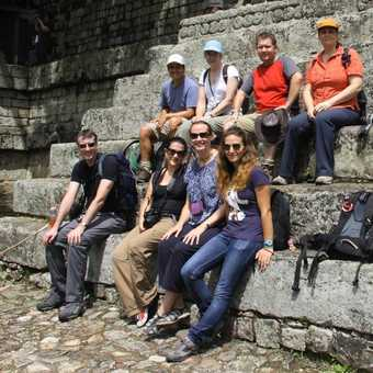 The tour group with Diego at Copan