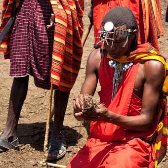 Fire starter, Masai village