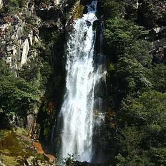 Waterfall near the end of the Santa Cruz Valley