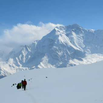 On the climb to High Camp