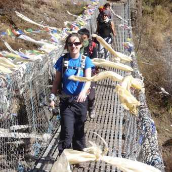 Crossing the Dudh Kosi below Namche