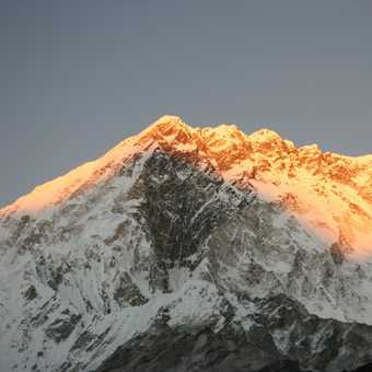 Sunset on Nuptse from Lobuche
