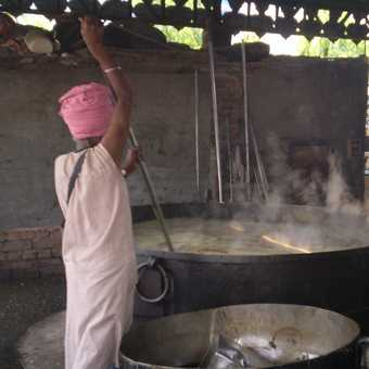 Large portions - Golden Temple kitchen, Amritsar