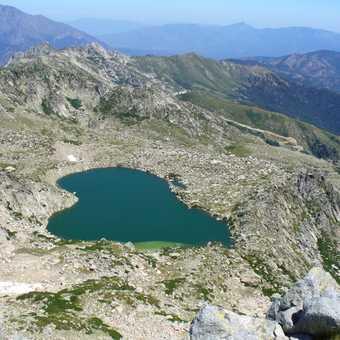 Lac Bastiani taken from top of Monte Renoso