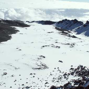 Kibo crater from Uhuru Peak