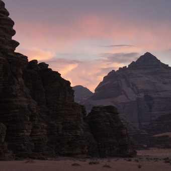 Desert camp night
