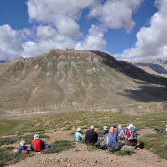 A short rest stop on the last day allows trekkers to enjoy the landscape of Spiti.