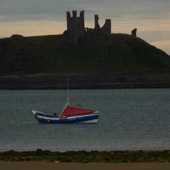 Boat and castle