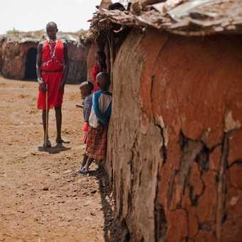 Masai village home