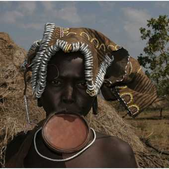 Mursi with a lip-plate