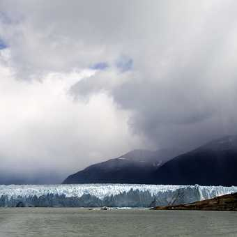 Approaching Perito Moreno Glacier by boat