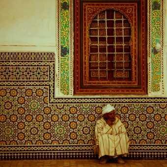 Worshiper at a local mosque