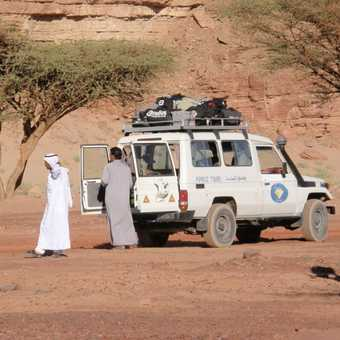 Our vehicle and Bedouin guide & driver